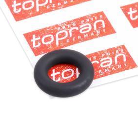 ostke ja asendage Rõngastihend, sissepritseklapp TOPRAN 111 414