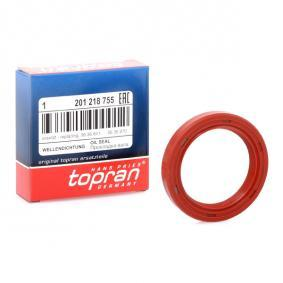 201 218 TOPRAN Ø: 48mm, Inner Diameter: 35mm, MVQ (Silicone Elastomer) Shaft Seal, camshaft 201 218 cheap