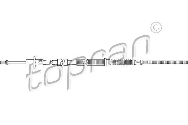 Kupplungszug TOPRAN 201 348