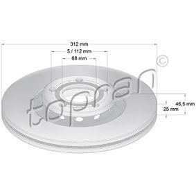 205 590 TOPRAN mit Dichtungen, Filtereinsatz Ölfilter 205 590 günstig kaufen