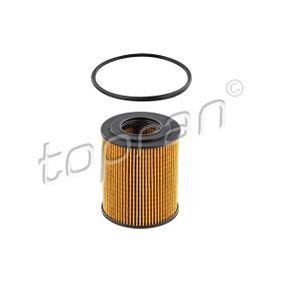 205 593 TOPRAN mit Dichtung, Filtereinsatz Höhe: 79,5mm Ölfilter 205 593 günstig kaufen