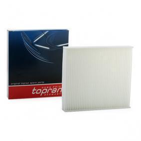 302 079 TOPRAN Kupéluftsfilter, Filterinsats B: 210mm, H: 33mm, L: 234mm Filter, kupéventilation 302 079 köp lågt pris