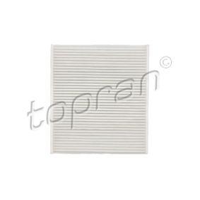 302079 Filter, kupéventilation TOPRAN - Upplev rabatterade priser