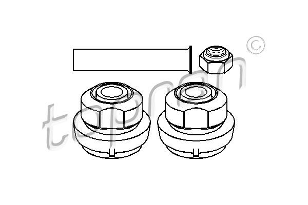 Styrarmssats hjulupphängning 400 121 TOPRAN — bara nya delar
