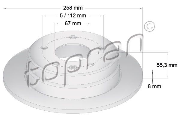 TOPRAN Stabdžių diskas 401 056