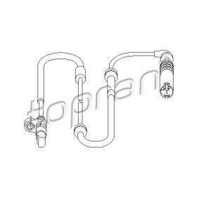 501 239 TOPRAN Bakaxel, båda sidor, med kabel ABS-givare 501 239 köp lågt pris