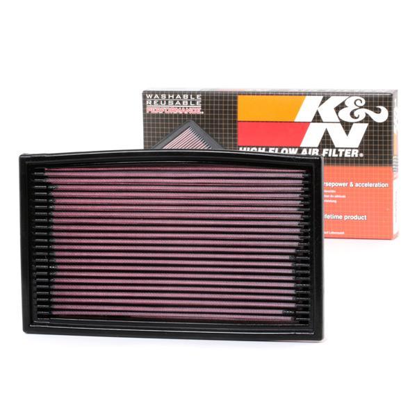 VW PASSAT 2018 Motorluftfilter - Original K&N Filters 33-2029 Länge: 306mm, Länge: 306mm, Breite: 181mm, Höhe: 29mm