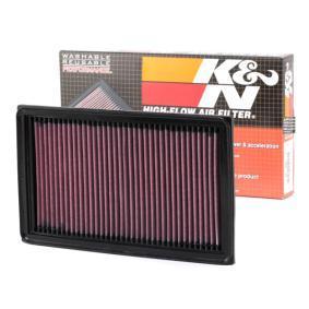 33-2031-2 K&N Filters Langzeitfilter Länge: 279mm, Breite: 167mm, Höhe: 29mm Luftfilter 33-2031-2 günstig kaufen