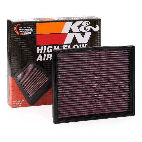 K&N Filters: Original Motorluftfilter 33-2125 (Länge: 251mm, Länge: 251mm, Breite: 210mm, Höhe: 19mm)