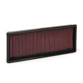 33-2181 K&N Filters Langzeitfilter Länge: 348mm, Breite: 132mm, Höhe: 32mm Luftfilter 33-2181 günstig kaufen