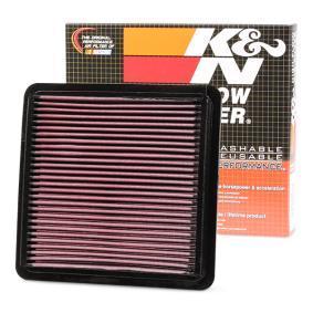 33-2304 K&N Filters Long life filter Lengte: 222mm, Breedte 2 [mm]: 217mm, Hoogte: 24mm Luchtfilter 33-2304 koop goedkoop