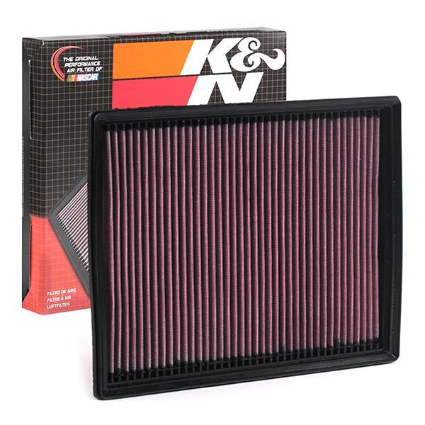 K&N Filters: Original Luftfilter 33-2787 (Länge: 291mm, Länge: 291mm, Breite: 232mm, Höhe: 30mm)
