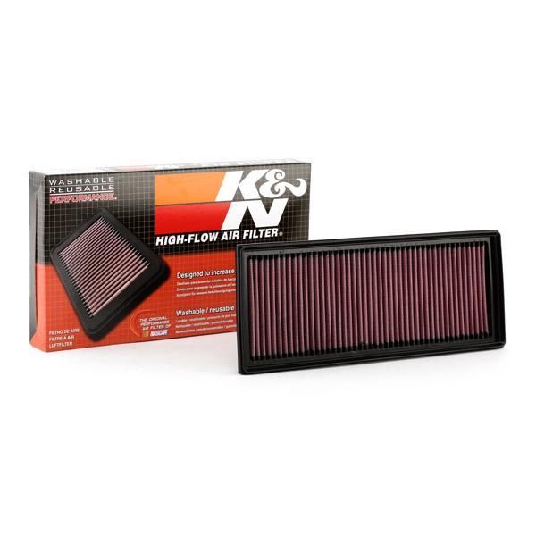 AUDI A4 2020 Luftfiltereinsatz - Original K&N Filters 33-2865 Länge: 341mm, Länge: 341mm, Breite: 135mm, Höhe: 30mm