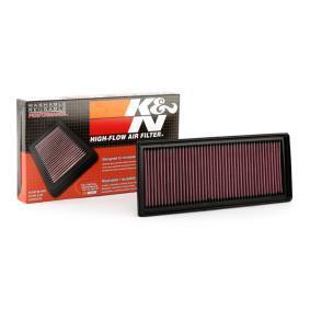Køb 33-2865 K&N Filters Langtidsfilter Länge: 341mm, Breite: 135mm, Höhe: 30mm Luftfilter 33-2865 billige