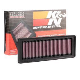 33-2931 K&N Filters Long life filter Lengte: 283mm, Breedte 2 [mm]: 98mm, Hoogte: 25mm Luchtfilter 33-2931 koop goedkoop