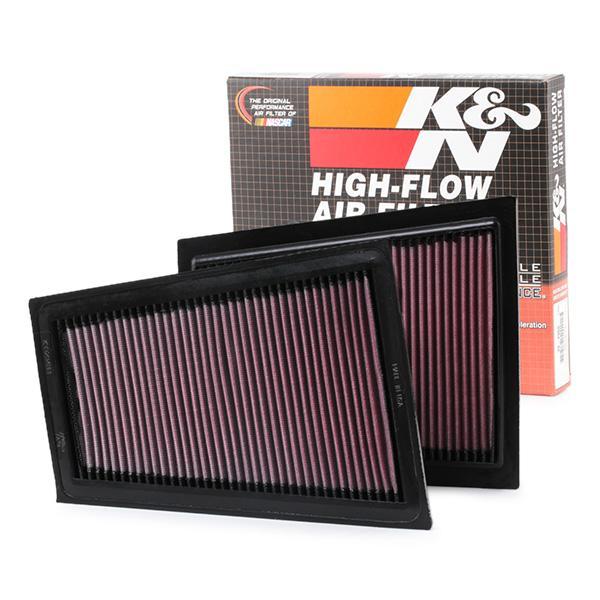 K&N Filters: Original Luftfilter 33-2940 (Länge: 249mm, Länge: 249mm, Breite: 210mm, Höhe: 17mm)