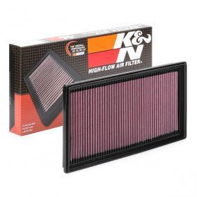 K&N Filters Filtro de longa duração Comprimento: 292mm, Largura: 232mm, Altura: 38mm Filtro de ar 33-2942 comprar económica