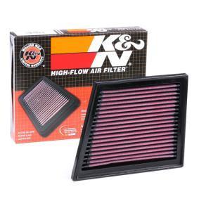 33-2955 K&N Filters Långtidsfilter L: 200mm, B: 162mm, H: 27mm Luftfilter 33-2955 köp lågt pris