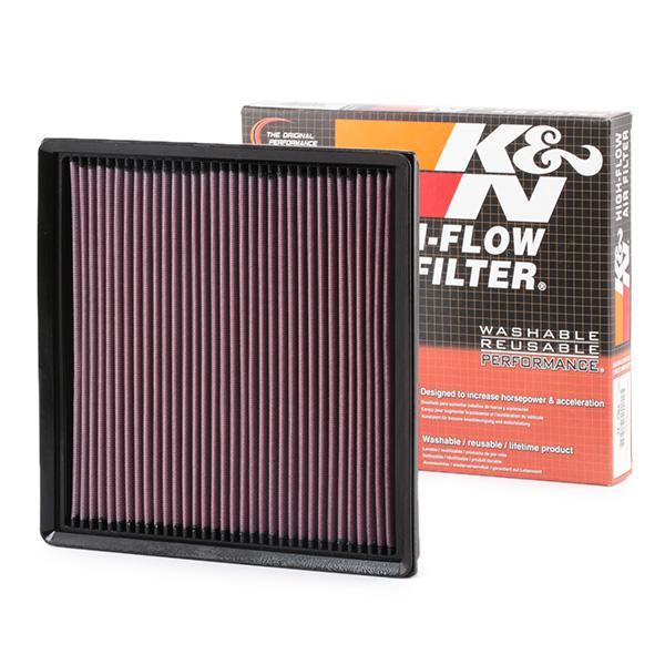 K&N Filters: Original Luftfilter 33-2966 (Länge: 267mm, Länge: 267mm, Breite: 261mm, Höhe: 32mm)