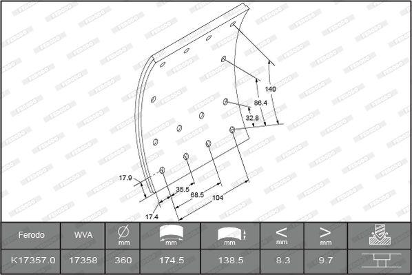 FERODO K17357.0-F3661 Niedrige Preise - Jetzt kaufen!