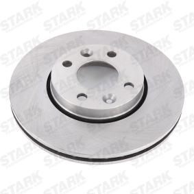 SKBD-0020081 STARK Vorderachse, Innenbelüftet Ø: 260mm, Lochanzahl: 4, Bremsscheibendicke: 22mm Bremsscheibe SKBD-0020081 günstig kaufen