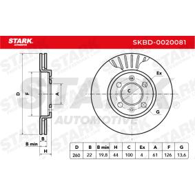 SKBD-0020081 Bremsscheibe STARK Erfahrung