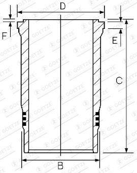 GOETZE ENGINE Cylinder Sleeve for MAN - item number: 14-450630-00