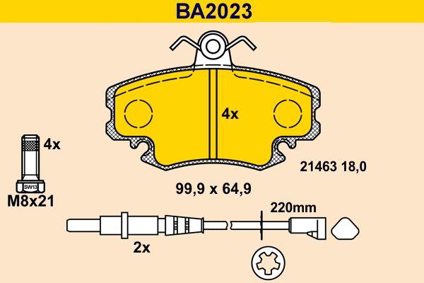 BA2023 Bremssteine Barum in Original Qualität