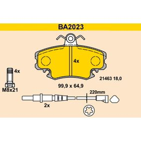 BA2023 Bremsbelagsatz, Scheibenbremse Barum in Original Qualität