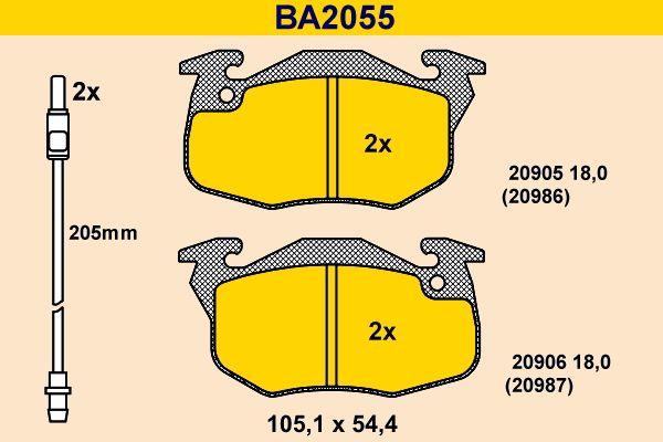 Bremsklötze Barum BA2055