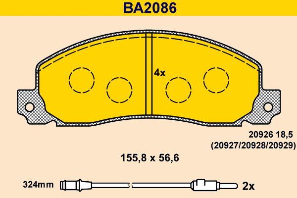 Bremsbelagsatz Barum BA2086