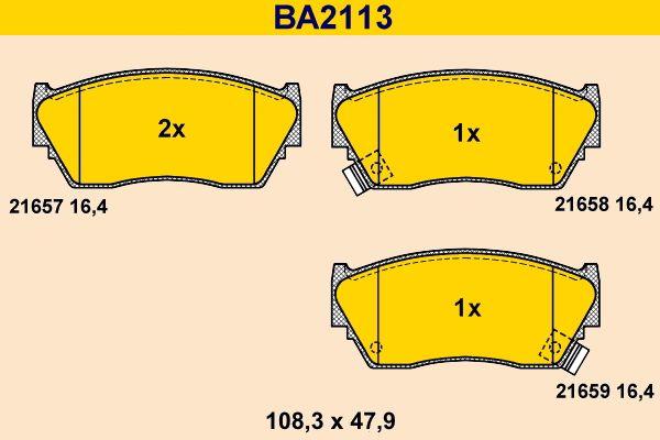 Scheibenbremsbeläge Barum BA2113