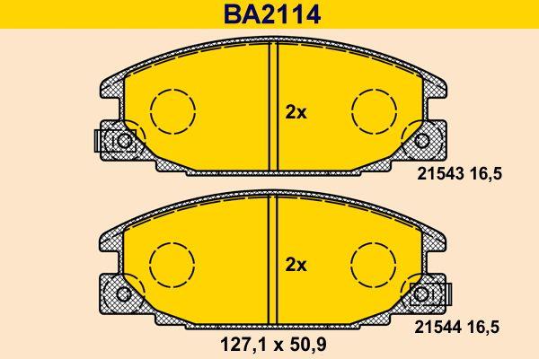 Scheibenbremsbeläge Barum BA2114
