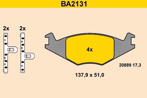 Barum Bremsbelagsatz, Scheibenbremse BA2131