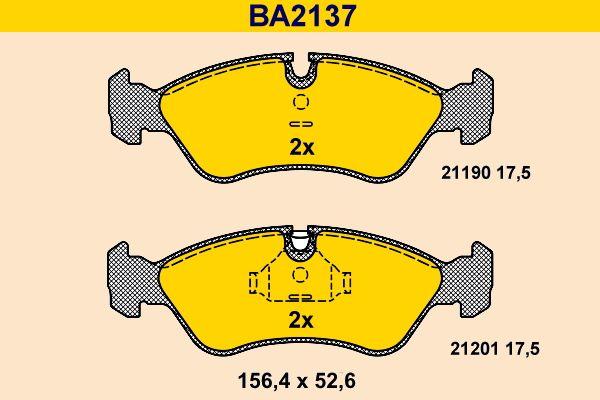 Bremsbelagsatz Scheibenbremse Barum BA2137
