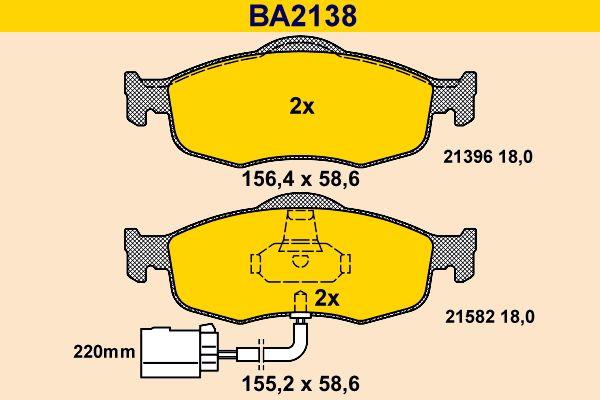 Bremsbelagsatz Barum BA2138