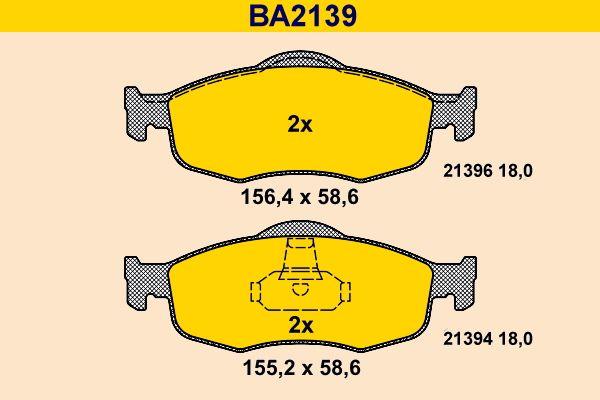 Bremssteine Barum BA2139