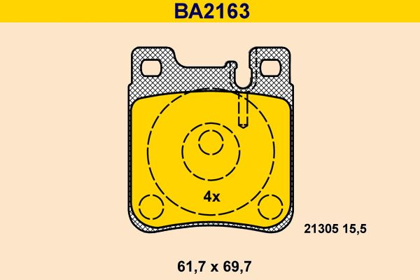 Bremsbelagsatz Barum BA2163