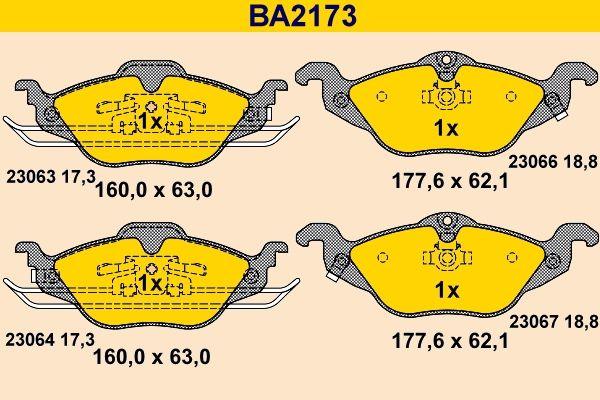 Bremsbelagsatz Barum BA2173