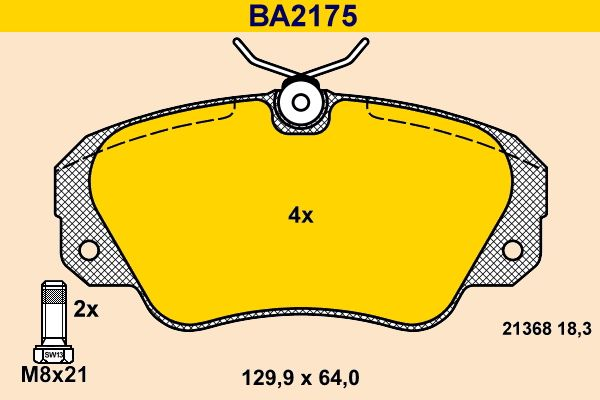 Bremsbeläge Barum BA2175