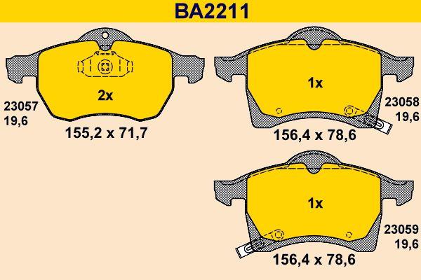 Bremsklötze Barum BA2211