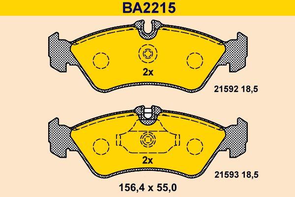 Barum Bremsbelagsatz, Scheibenbremse BA2215
