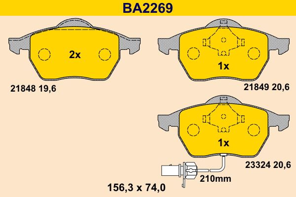 Bremsklötze Barum BA2269