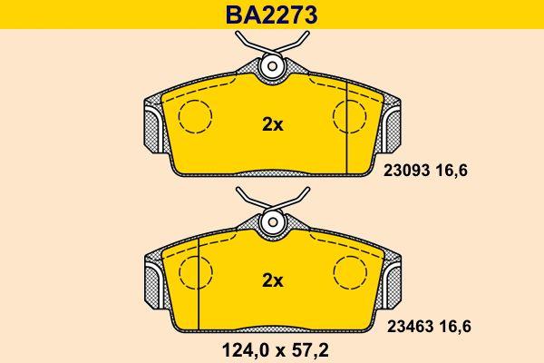 Bremsbelagsatz Barum BA2273