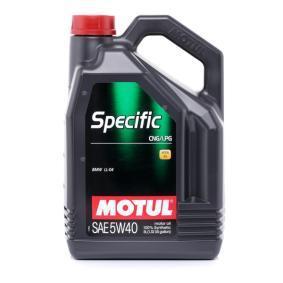 Comprare 5W40 MOTUL SPECIFIC, CNG/LPG 5W-40, 5l, Olio sintetico Olio motore 101719 poco costoso