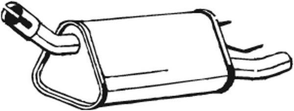 VEGAZ: Original Endschalldämpfer OS-337 (Länge: 720mm, Länge: 720mm)