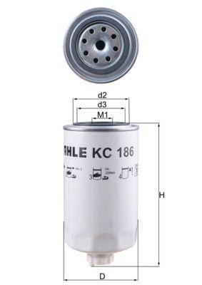 KC 186 MAHLE ORIGINAL Kraftstofffilter für IVECO Tector jetzt kaufen