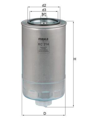 MAHLE ORIGINAL Filtro carburante KC 214
