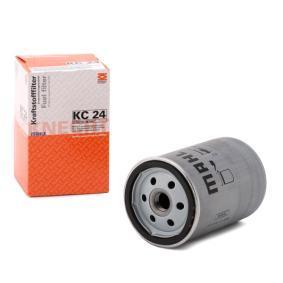 77827512 MAHLE ORIGINAL Skruvfilter H: 119,5mm, Kåp-Ø [mm]: 76,5mm Bränslefilter KC 24 köp lågt pris
