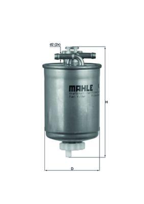 MAHLE ORIGINAL Filtr paliwa KL 103